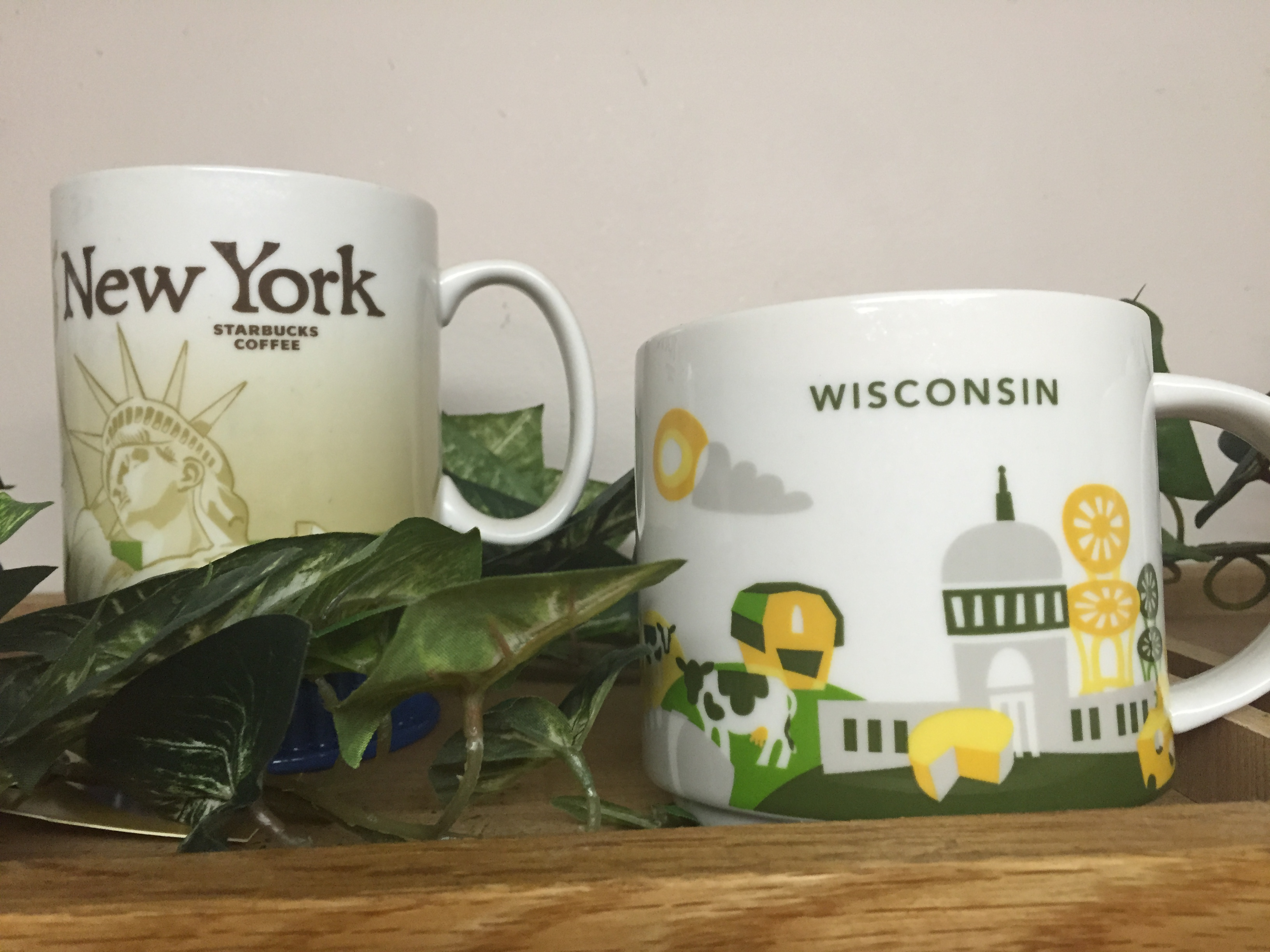 I collect Starbuck's city mugs. Each of these mugs has a story behind it.